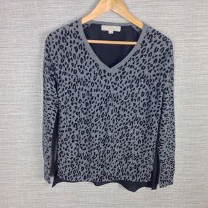 Loft Animal Print Sweater Top